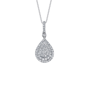 Unique Round Brilliant Diamond Pendant