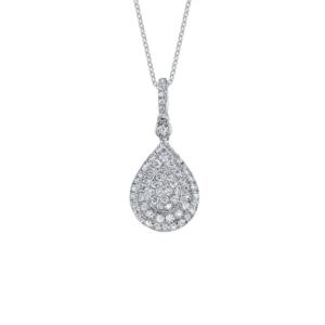 Unique Round Brilliant Diamond Pendant