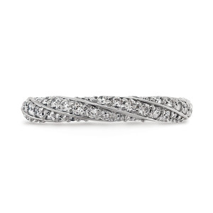 Atlantico Pave Wedding Rings