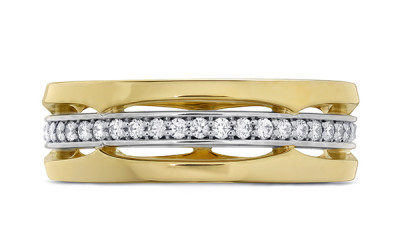 Copley Triple-Row Wedding Band
