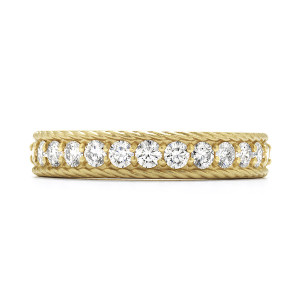 Diamond Bar Braided Band with Satin Finish