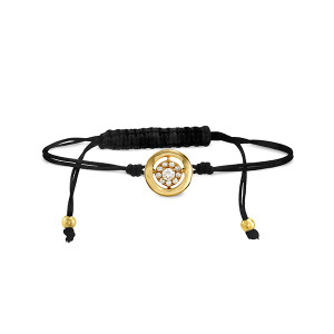 Inspiration Cord Bracelet Yellow Gold