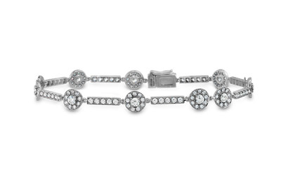 Inspiration Single Halo Line Bracelet