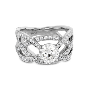 Intertwining Diamond Ring