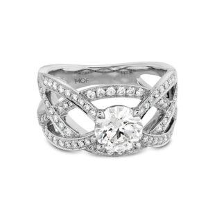 Intertwining Diamond Ring