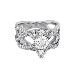 Intertwining Regal Engagement Ring