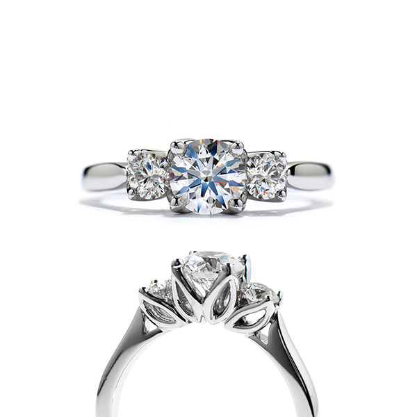 Simply Bridal 3-stone Engagement Ring
