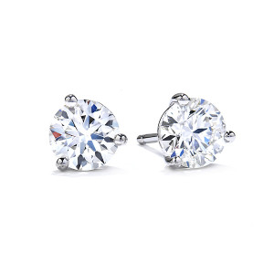 Three Prong Stud Earrings
