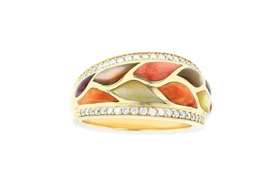 Picture Of A Gemstone Filled Ring After Jewelry Repair - Lincroft Village Jewelers