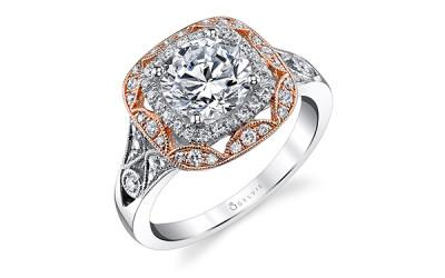 Sylvie Halo Engagement Ring