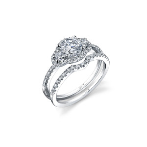 Classic Petite Three-Stone Diamond Engagement Ring